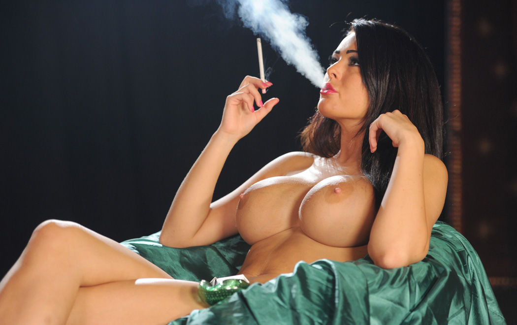 Stunning Charley Atwell smoking all white 120s topless